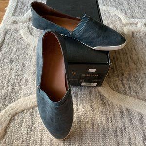 Frye Melanie Blue Leather Slip On Flats Sneakers